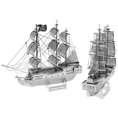 3D Metal Nano Puzzle Model Building Kits Toy - DIY Black Pearl Pirate Ship Model(China (Mainland))