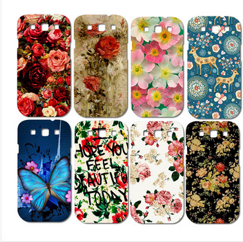 Colorful Brilliant Rose Peony Flowers phone case housing hard back diy patterns case for samsung s3 i9300(China (Mainland))