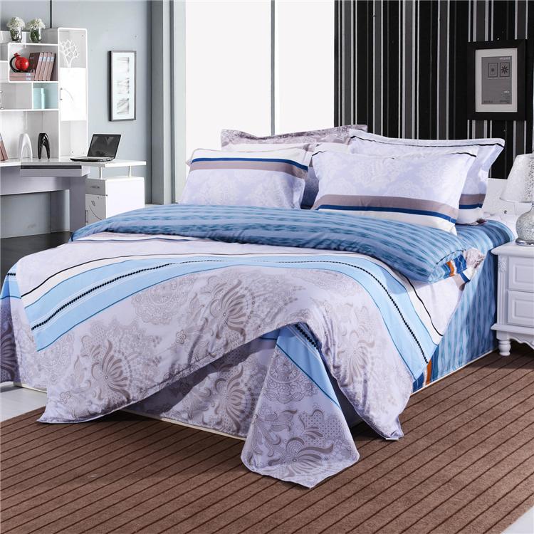 Hot sale new style 100 cotton fibrics bedding set 4 pcs for New style bed