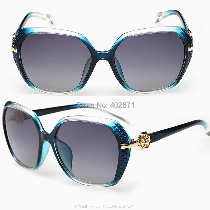 2014 Luxury UV400 Polarized Floral Sunglasses Women Fashion Summer Sun Glasses Women's Vintage Sunglass Outdoor Eyeglasses
