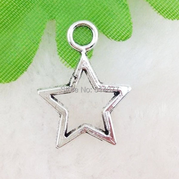 20pcs Tibetan Silver Star Alloy Charm Pendants Beads 22x20mm(China (Mainland))