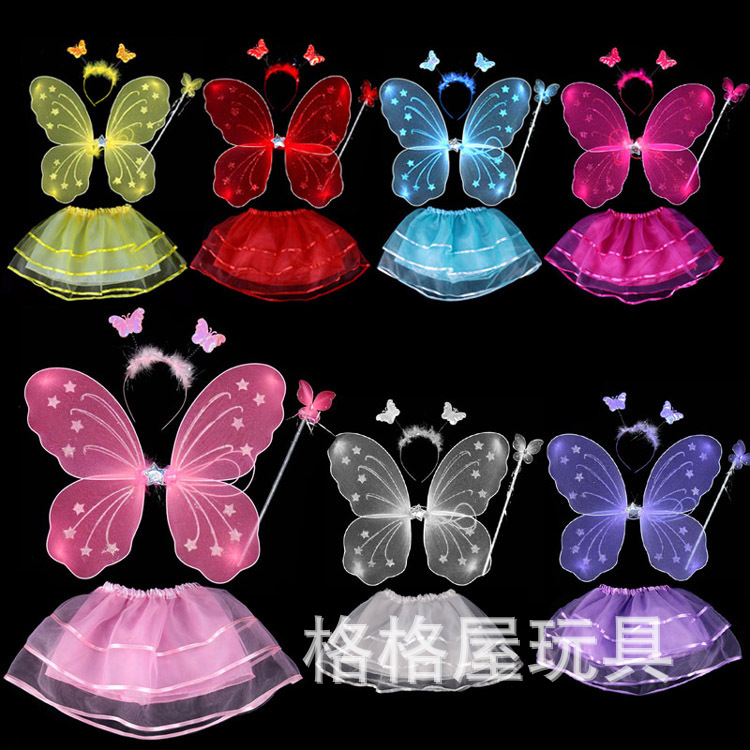 Wholesale 200sets lot butterfly fairy wings set with tutu for Butterfly wands wholesale
