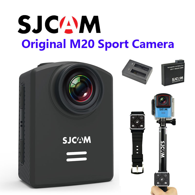 Free Shipping!! Newtest SJCAM M20 Wifi Gyro Sport Action Camera HD 2160P 16MP Bluetooth watch self timer lever remote control(China (Mainland))