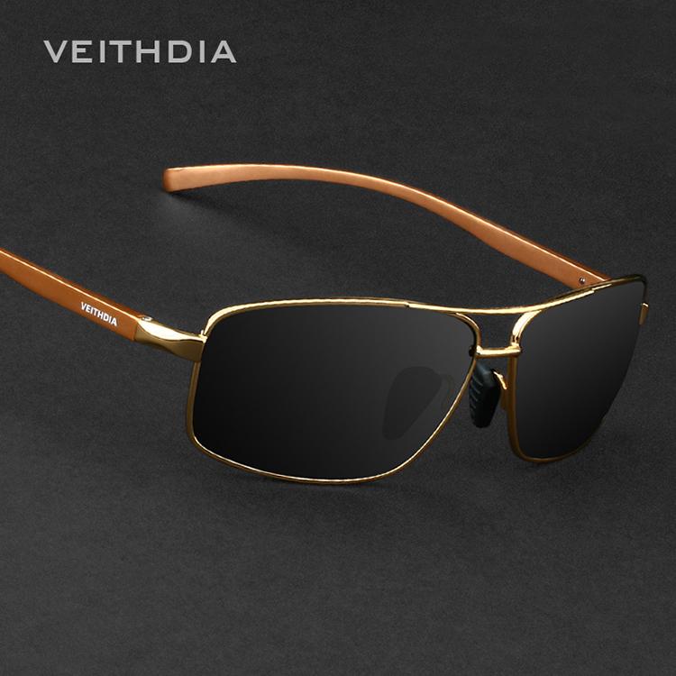 Hot Sale New Fashioh UV400 Men's Polarized Veithdia Sunglasses Brand Driving Aviator Mirrors Eyewear Men glasses for driving(China (Mainland))