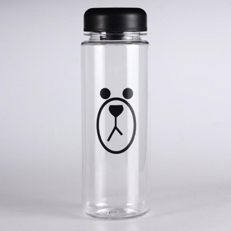 1Pc 500ml fashion New multipurpose Outdoor sports Brown Bear bottle lemon juice readily cup space cup water bottles only a cup(China (Mainland))