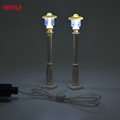 MTELE Brand LED Street light for Compatible with Lego and Lepin Building Block Led City series