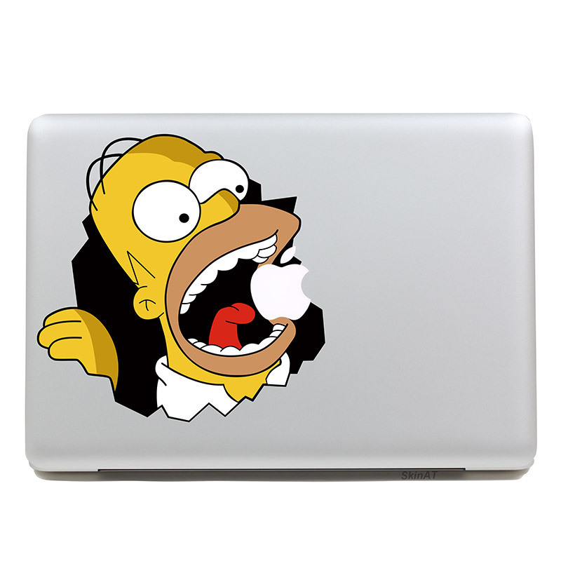 Removable Avery waterproof cartoon man eating apples tablet sticker and laptop computer sticker for Laptop 11,205*270mm(China (Mainland))