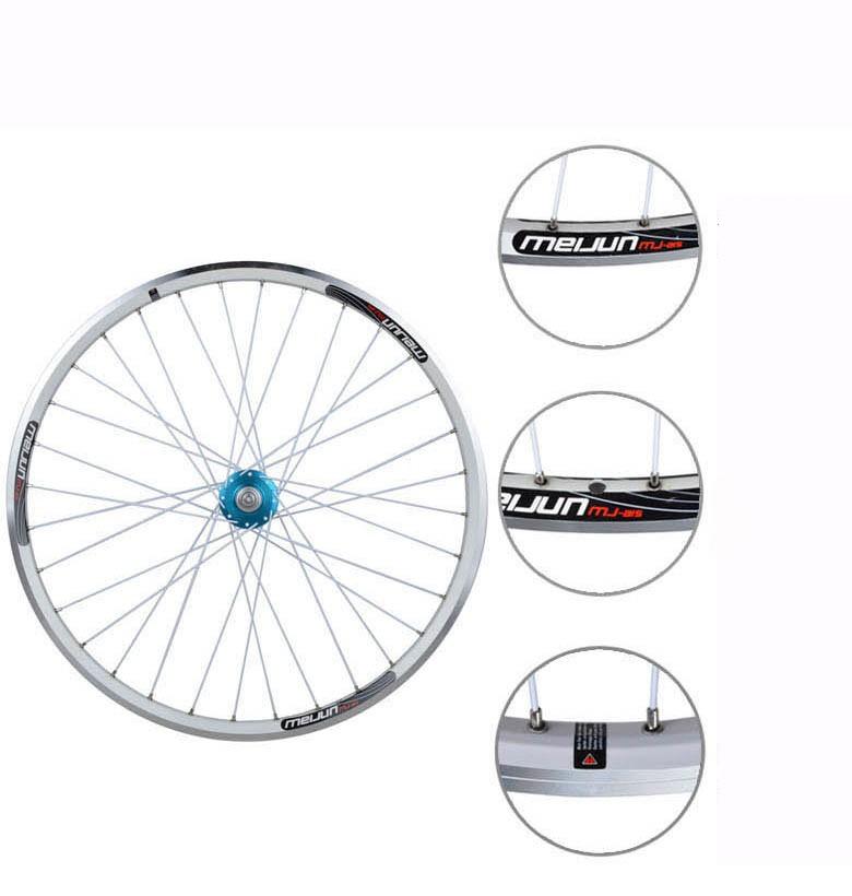 Buy 26'' inch 32 Holes MTB Mountain Bikes Road Bicycles V brake Disc Brake Dual purpose Wheel Hubs Rim knife circle Wheelset Parts cheap