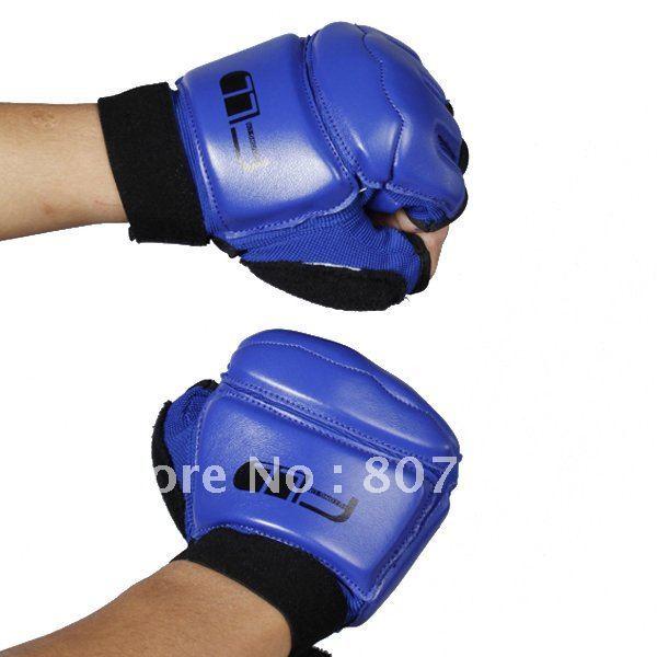 Best wholesale Price!  Taekwondo Gloves Hand Protectors Taekwondo Sparring Gloves - Blue