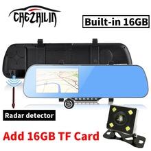 "5.0"" Android 4.4 Car GPS Navigation rearview mirror Radar Detectors Allwinner A23 1080P DVR Rear view Navitel 9.5 or Europe map(China (Mainland))"