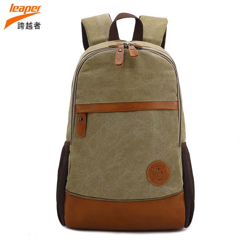 New Fashion Nature Canvas Teen Girl Backpack School Bag Large Capacity Rucksack For Laptop