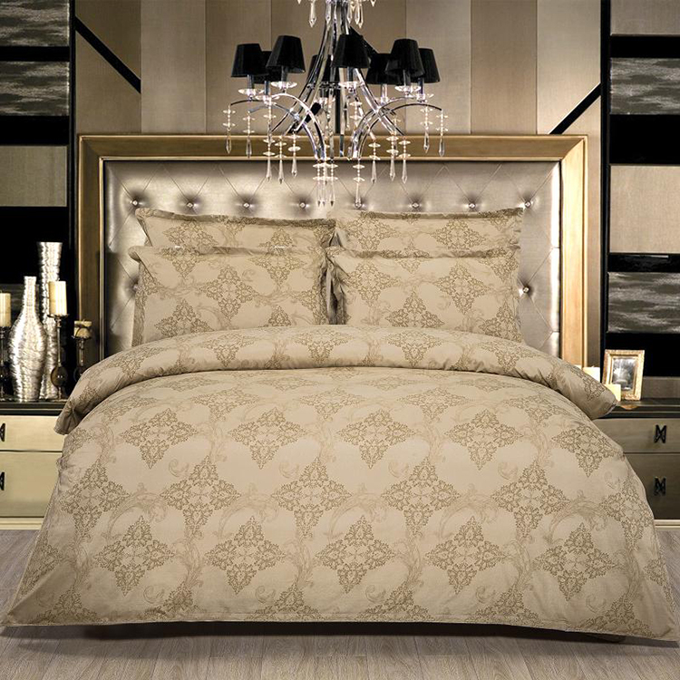 Luxury European Wedding Royal Satin 100% Cotton Jacquard Duvet Cover Bedding Set:sheet*1 duvet cover *1 pillowcases*2(China (Mainland))