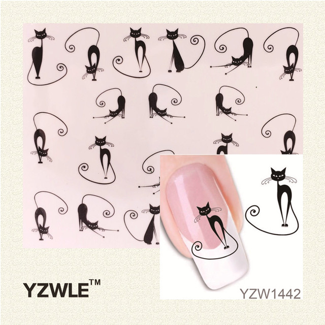 Cat Sweetheart Animation Nail Stickers