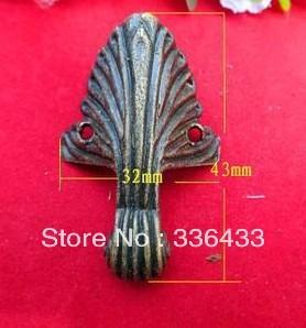 Antique Furniture Hardware Corner Foot Foot trumpet edges