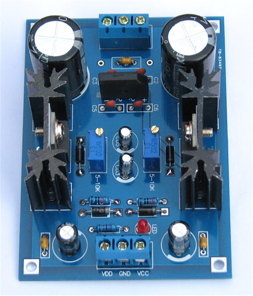 Diy kit DC LM317t LM337t linear Adjustable filtering regulated power supply board electronic production diy electronic suite(China (Mainland))