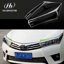 For Toyota Corolla 2014 headlights cover head lamps sticker Chromium Styling decoration Exterior products accessory(China (Mainland))
