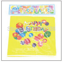 33*33CM 20PC/Lot Yellow Balloon Happy Birthday Party Paper Ficial Tissue Popular New Born Baby Shower Kids Dinner Party Napkin()