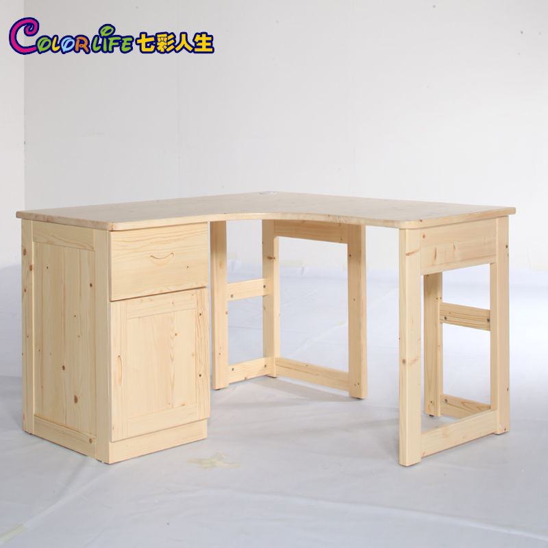 kinder feste holz m bel eckschreibtisch computertisch ecke einen schreibtisch mit schubladen. Black Bedroom Furniture Sets. Home Design Ideas