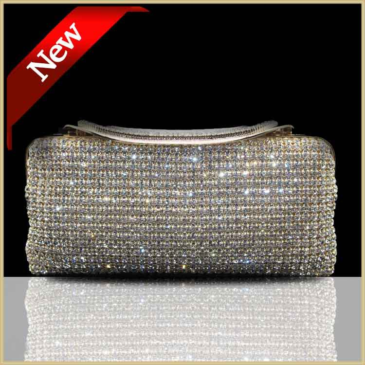 Both side evening bags cerise Crystal  handbag golden/sliver/black women crystal clutch bag lady Clutches hand bag#81051<br><br>Aliexpress