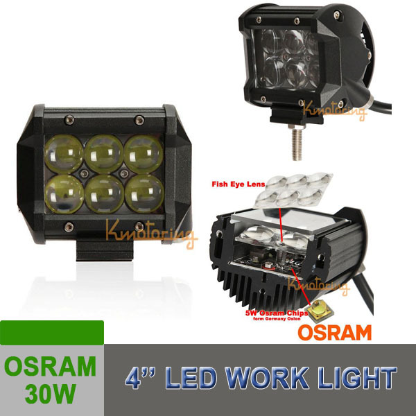 30W CREE LED Work Light Bar 4WD Flood Beam Offroad Driving Fog Lamp ATV SUV Auto Parts New Products 2015(China (Mainland))