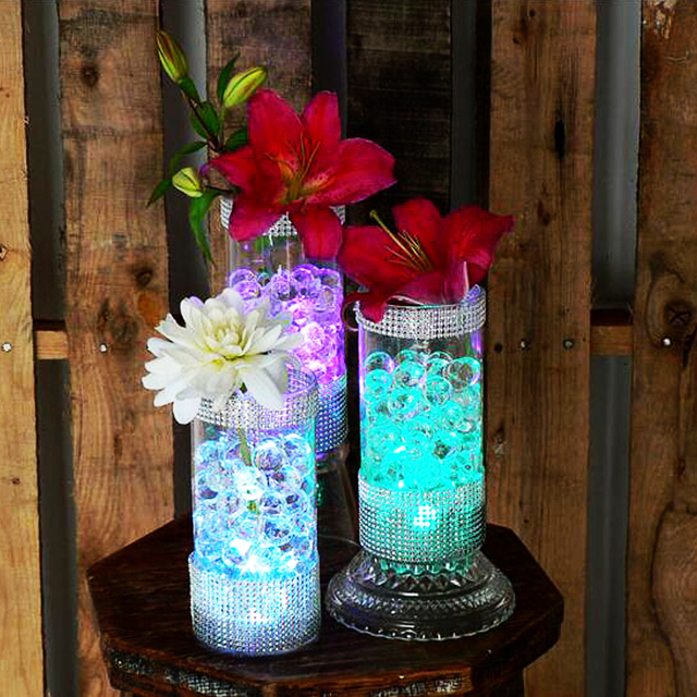 1200 Pieces / Lot White Color Submersible Battery LED FLoralyte~Submersible Lights-Underwater LED