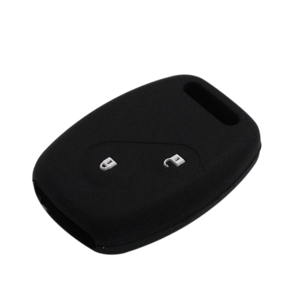 Uncut Blade Car Key Case Cover Silicone Skin for Civic Honda Accord CR-V 2 Buttons Flip Fob Car Key Shell(China (Mainland))