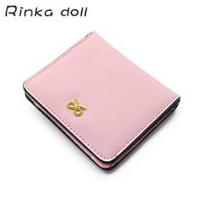 Rinka doll Women Wallets PU Leather Female Card Holder Wallet Elegant Casual Girls Small Zipper Coin Purse #Q178 - LiHuaWawa Store store