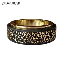 Gohide Fashion Ashtray Great Circle Gold Quality Ashtray Fashion Home Men's Collection Gift Cigar Tools(China (Mainland))