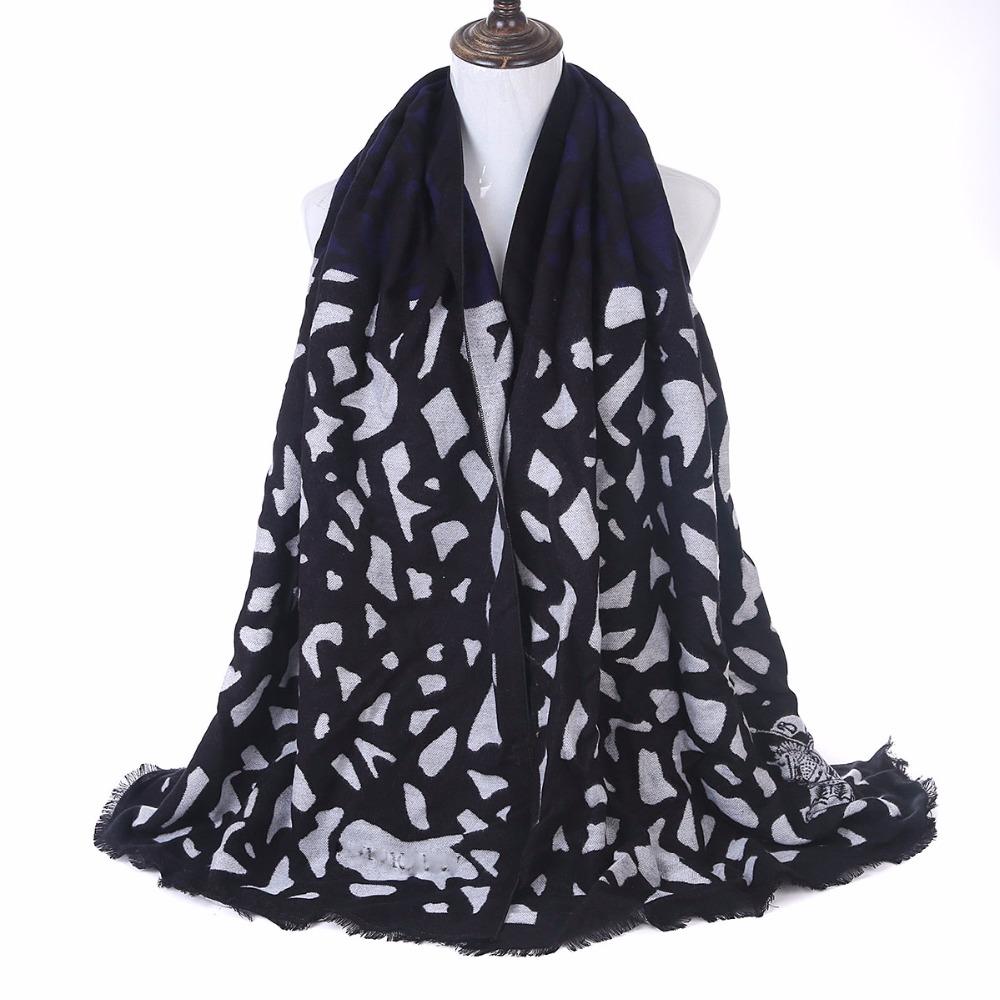 New Europe Luxury Brand Scarf Fashion Floral Leopard Printed Women Pashmina Warm Winter Shawl Scarf(China (Mainland))