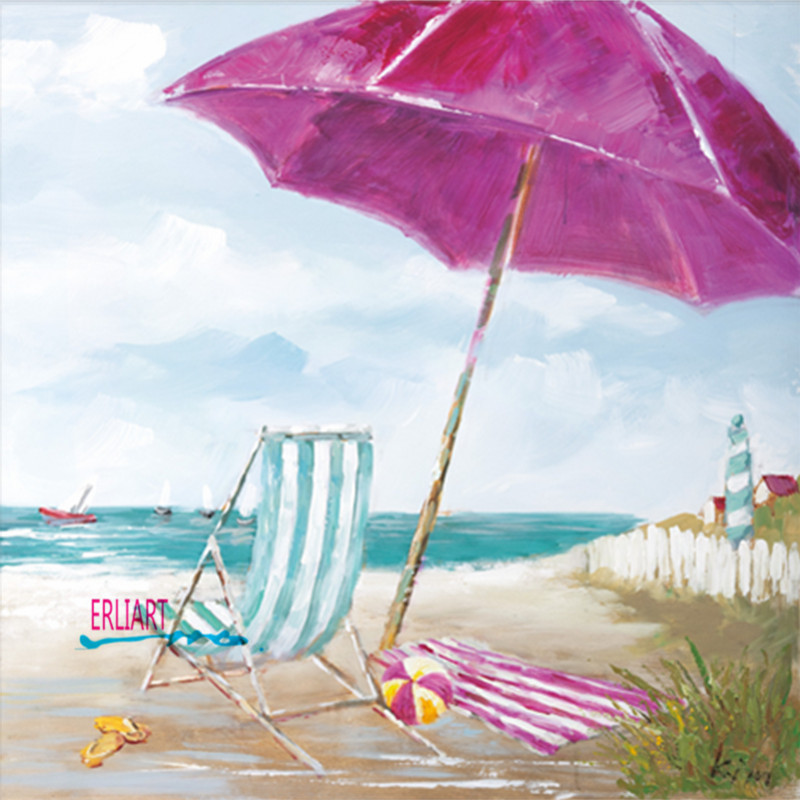 Beach Leisure Home Decoration Western Modern Lyric Comfortable Art Oil Painting Fashion Drawing Painting Frameless Pictures
