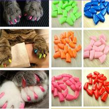 20pcs Pet Cat Paw Claw Control Nail Caps Covers Protector Protective Colorful Non-toxic Safety Practical(China (Mainland))