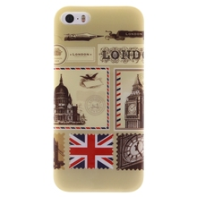 Fashion London Envelope Styles For Iphone 5 5S 4 Inch phone Soft TPU Case cover For Iphone 5 5S mobile phone shell