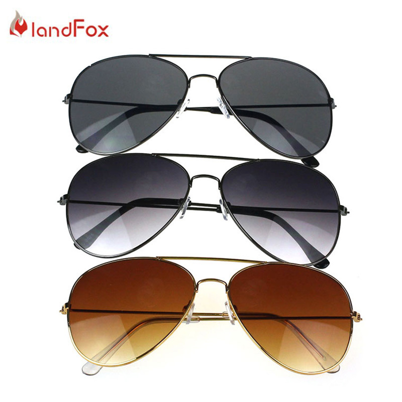 Landfox Man Sunglasses Brand 2015 Quick Fashion Men Glasses Eyewear Oculos De So Sun Glasses UV400 Circle Sunglasses Aviator(China (Mainland))