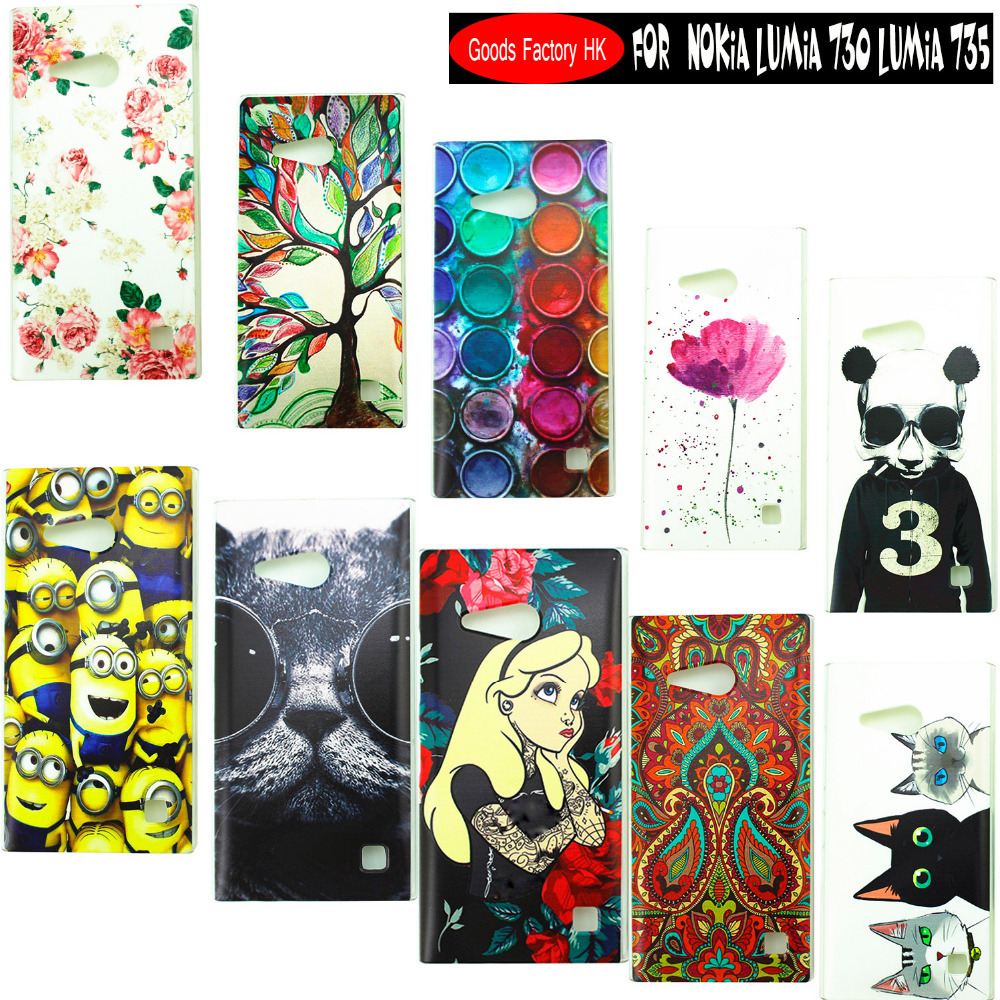 Top Selling Stock Cartoon Pattern Matte case PC Hard Skin Case Cover Back For Nokia Lumia