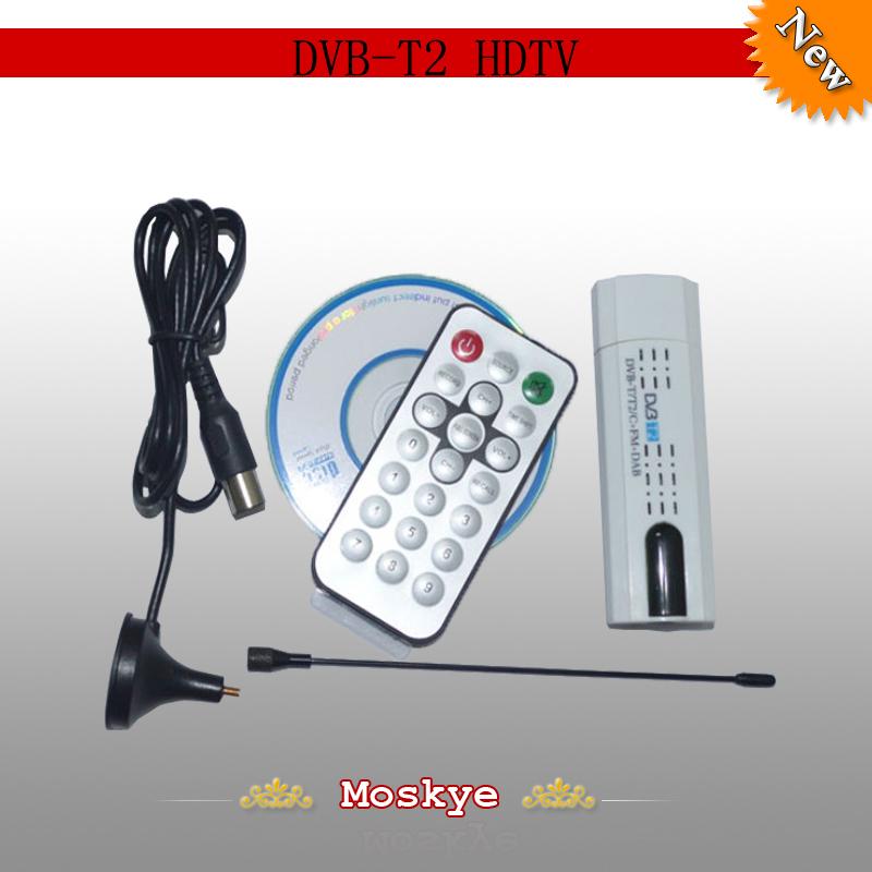 New arrival USB 2.0 DVB-T2 HDTV Digital TV Receiver DVB-C USB DVB-T SDR FM DAB TV Receiver Mini Digital TV Stick(China (Mainland))