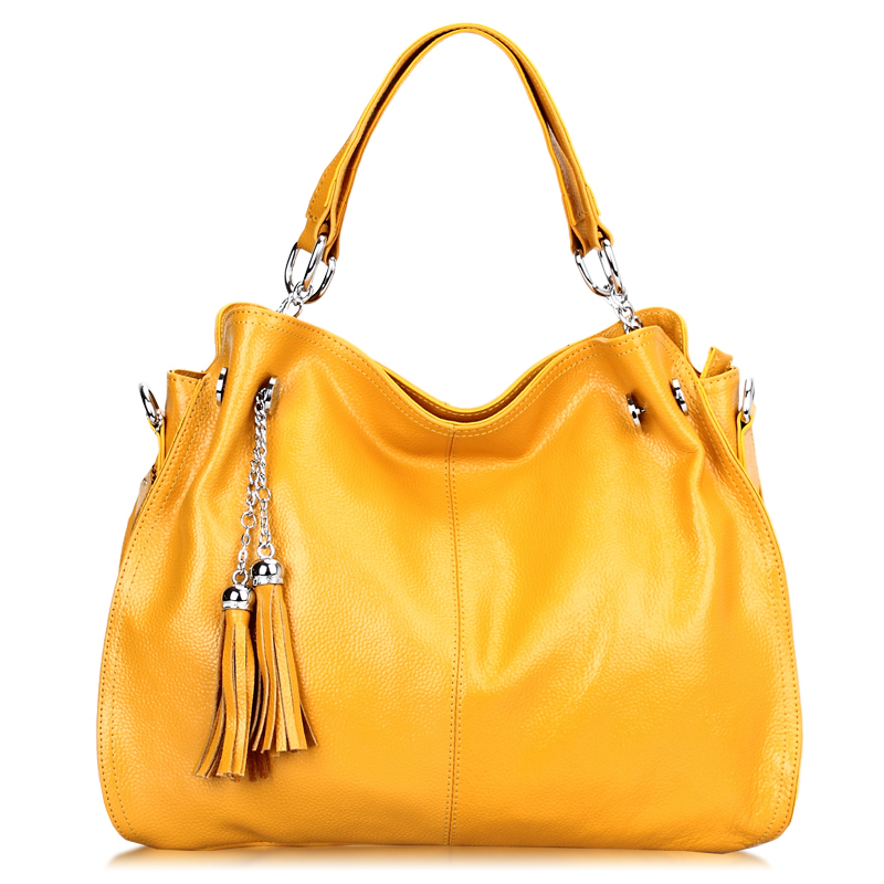 free shipping 2013 women's genuine leather handbag fashion cowhide handbag one shoulder cross-body bag