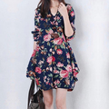 Maternity clothing 2016 spring plus size maternity dress maternity fluid long sleeve fashion one piece dress
