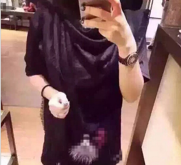 2015 Luxury Brand Lagerfeld Style Winter Woman Scarf Solid Warm Pashmina And Shawls High Quality Kerchief Black Unisex Fur Scarf(China (Mainland))
