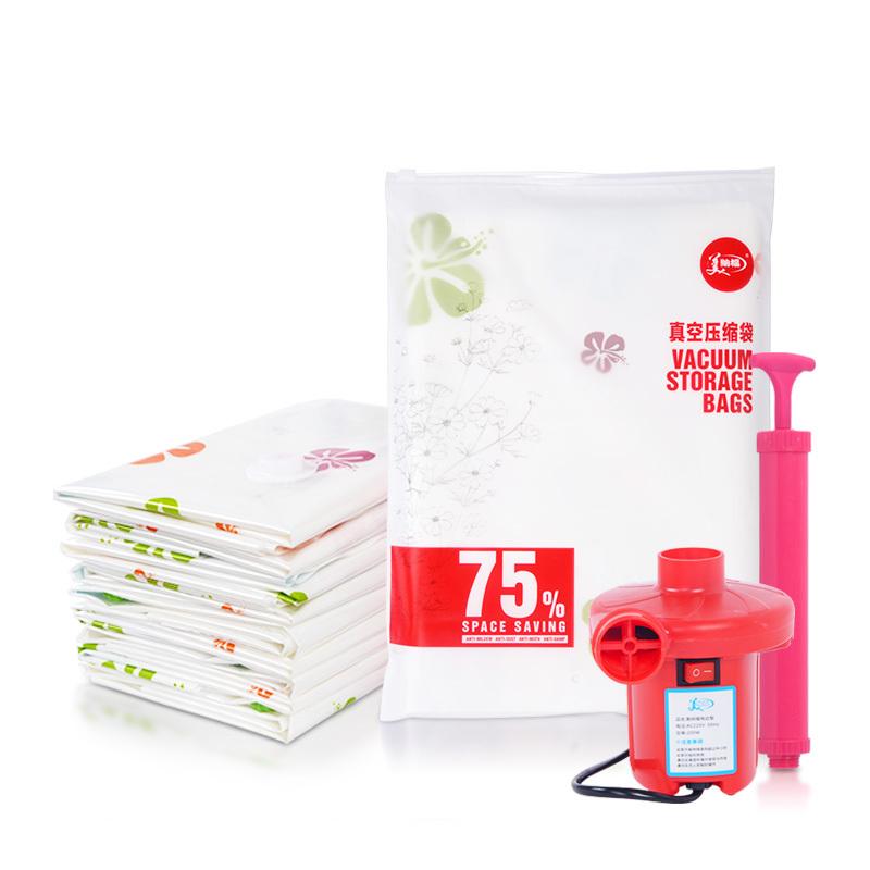 Vacuum compressed bags vacuum bag quilt storage bag clothes Large 8 pump(China (Mainland))