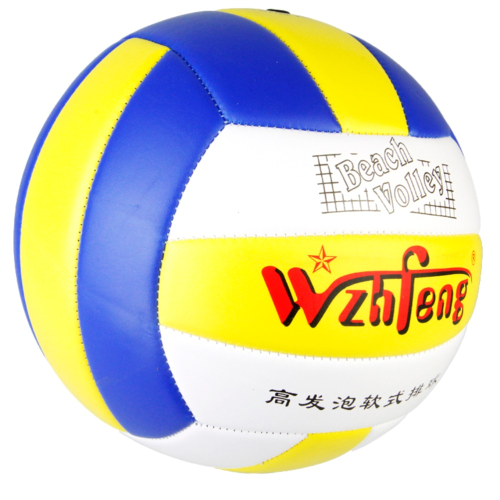 Outdoor Sand Beach Volleyball Game Ball Thickened Soft PU Leather Volley Ball Match Training Volleyball Ball Size 5(China (Mainland))