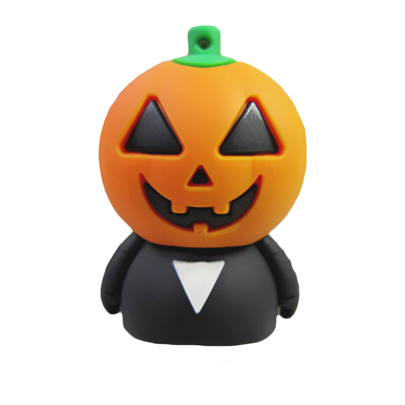 usb 2.0 flash drive Halloween cartoon Pumpkin head 8gb 16gb 32gb 64gb Pen drive memory card stick disk pendrive U Disk gift(China (Mainland))
