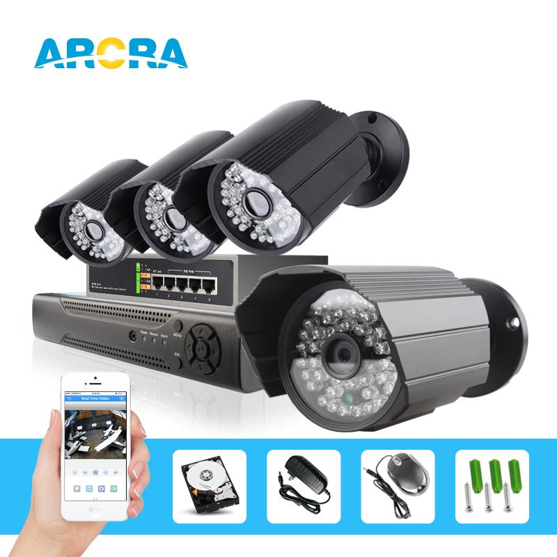 4ch 1080p poe cctv camera system Night vision up to 20m, ONVIF, motion detection with email alarm. ip66 waterproof(China (Mainland))