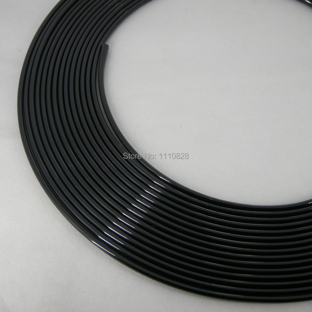 Stripe Trim Door Moulding 44 Feet /13.5 Metres Guard Edge Protection Fit Most Car Black(China (Mainland))