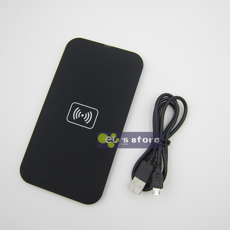 Black QI Wireless Charger Pad for Samsung Galaxy S6 S5 S4 S3 NOTE2/3/4 Google Nexus 4/5 Lumia 920(China (Mainland))
