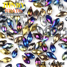 Buy JHNBY Briolette Pendant Waterdrop Austrian crystal beads 6*12mm50pcs Plating Teardrop glass bead jewelry making bracelet DIY Store) for $2.29 in AliExpress store