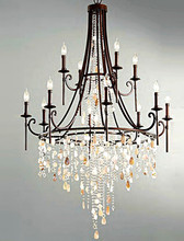 Fashion Shop Bar Retro black shell chandelier crystal lampara large iron chandelier luster hotel villa E14 led novelty lighting(China (Mainland))