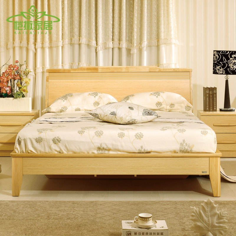 Furniture Nordic wood bed garden bed 1.5 1.8 m high box bed storage bed Double Special Banchuang(China (Mainland))