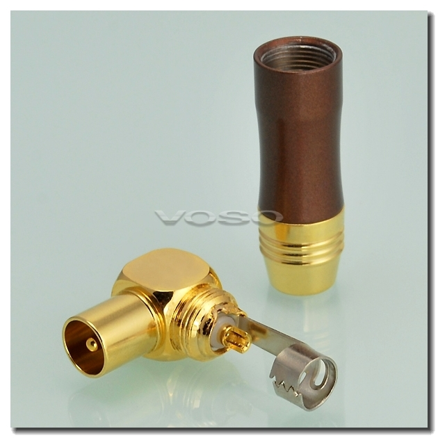 90 Degree Right Angle TV Coaxial Cable Jack Plug Aerial Coax RF Connector 3100280(China (Mainland))