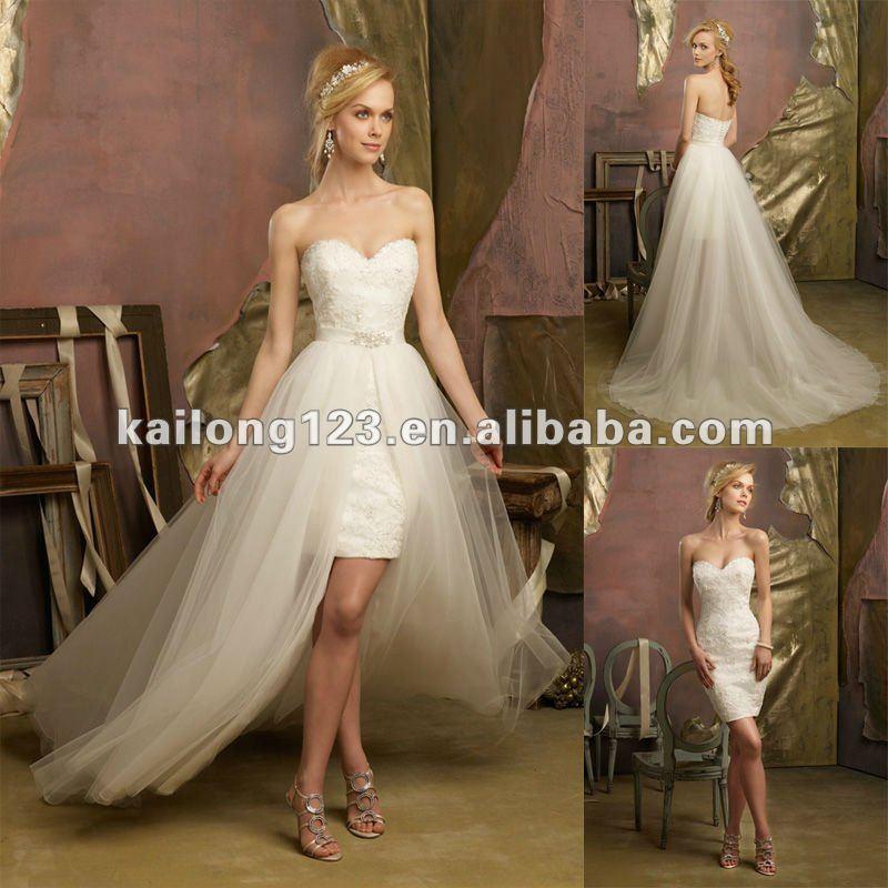 Buy lovely sweetheartt beaded lace short for Wedding dress with overskirt