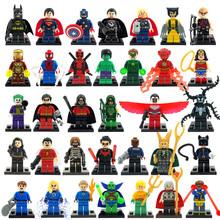 Marvel Super Heroes figures 34pcs/lot Avengers Superman Batman Star Wars Building Blocks Set Model Classic character bricks Toys(China (Mainland))